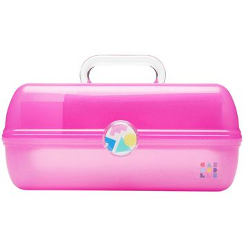 Hot Pink Sparkle Jelly Retro On-The-Go Girl™ Caboodle