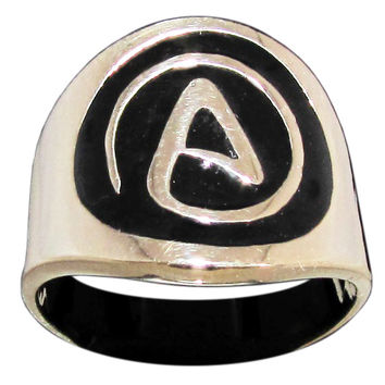 Atheism Ring Atheist Symbol in Bronze