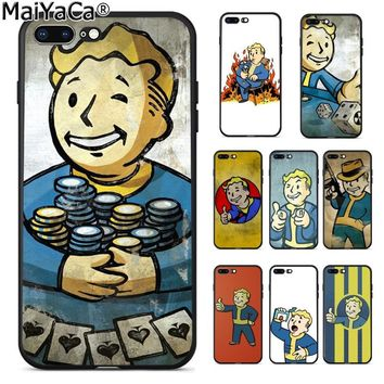 MaiYaCa Black Isle Studios game fallout new vegas boy Retro Phone Case for Apple iPhone 8 7 6 6S Plus X 5 5S SE XS XR XS MAX