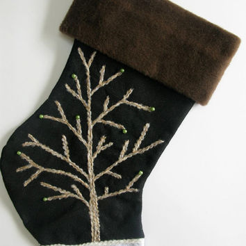Elegant Christmas Stocking Winter Tree