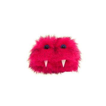 Kim the Eco-Friendly Tin Monster - Kawaii - Pink Furry Altered Altoids Tin