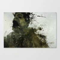 The Hulk Stretched Canvas by Melissa Smith