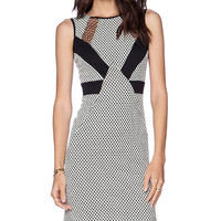 Amanda Uprichard Honeycomb Dress in Black & White