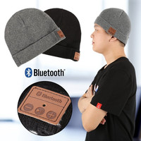 Soft Winter Warm Beanie Hats for Women Men Unisex Wireless Bluetooth Smart Cap Headset Headphone Speaker Mic Bluetooth Hat F4