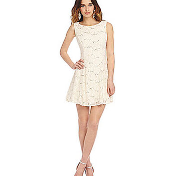B Darlin Tank Sequin Lace Dress From Dillards Quick Saves