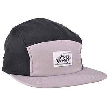 Grizzly Griptape Gray 5 Panel Hat