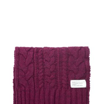 Chunky Cable Knit Oblong Scarf