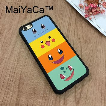 MaiYaCa s Bulbasaur Squirtle Charmander Face Phone Cases For Apple iPhone 8 Case Rubber Soft TPU Phone Case Back CoverKawaii Pokemon go  AT_89_9