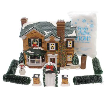 Department 56 House 2000 HOLLY LANE GIFT SET/11 Snow Village Christmas 54977
