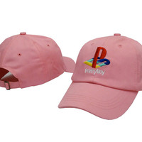 Pretty Boy Playstation Logo Snapback Pink Sports Cap Casquette Baseball Denim Polo Strapback Hat