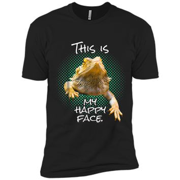 This Is My Happy Face Bearded Dragon Funny Reptile  Next Level Premium Short Sleeve Tee