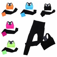 Women Yoga Sport Suit Summer Bra Set 2 Piece Female Short-sleeved pants Outdoor Quick Drying Sportswear Running Clothes