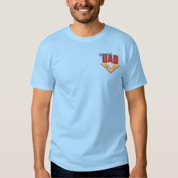 Baseball Dad Embroidered T-Shirt