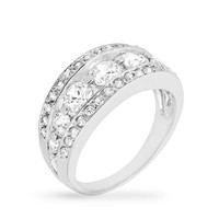 Tiered Anniversary Ring, size : 10