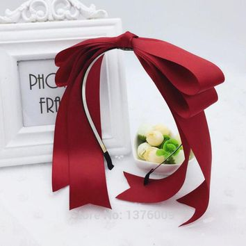 Lolita KC Maid Headband Kawaii Bowknot Handmade DIY Bow Hair Accessories Snow White Hairpin Halloween Cosplay Headdress