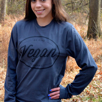 Vegan Circle Long Sleeve T-Shirt