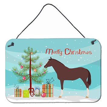 English Thoroughbred Horse Christmas Wall or Door Hanging Prints BB9280DS812