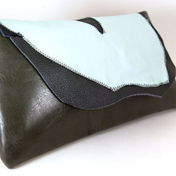 Christmas in July Boho Leather Clutch-