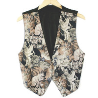 Kitty Tapestry Tacky Ugly Cat Lady Vest - The Ugly Sweater Shop