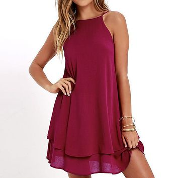 Casual Double Ruffle Dress