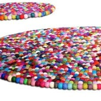 45 Gumball YUMMIRug Round Felt Rug 45ft by Crafttasticparties