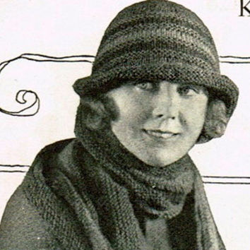 INSTANT DOWNLOAD-Vintage 1920s knitting pattern- Downton Abbey Style era Flapper Hat -pdf email delivery