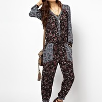 Free People Sheila Jumpsuit in Floral Print