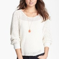 Chloe K Cold Shoulder Crop Sweater (Juniors) | Nordstrom