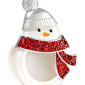 Bath & Body Works Scentportable Car Visor Clip Holder Sparkle Snowman