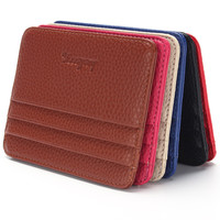 2016 Hot Sale Fashion New Pattern Men Women Originality ID Holders Commute Solid Color Photo Card Holder Package Free Shipping