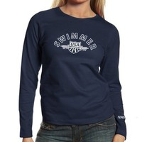 Speedo USA Swimming Ladies Navy Blue Long Sleeve T-shirt