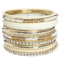 10 Pieces Bangle Set | Shop Jewelry at Wet Seal