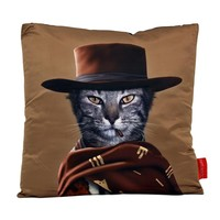 So into this design on Fab! Western Cat Throw Pillow #FabForAll
