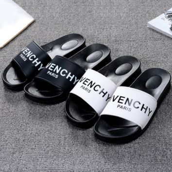 Givenchy Paris Women Men Casual Fashion Print Sandal Slipper Shoes G