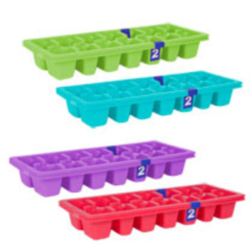 Bulk Colorful Plastic Ice Cube Trays, 2-ct. Packs at DollarTree.com