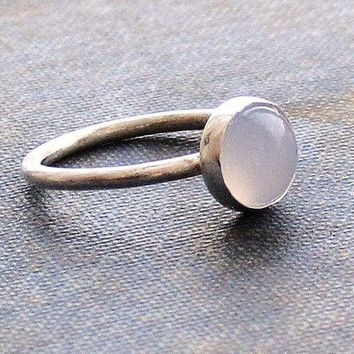 Chalcedony on Sterling Ring - Made to Order