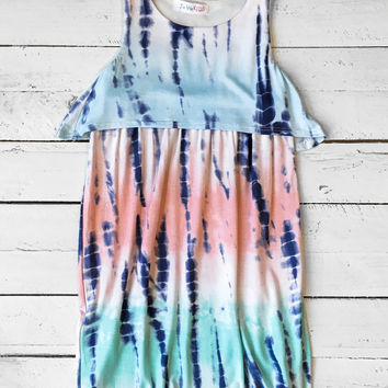 Girls Tank Dress - Mint