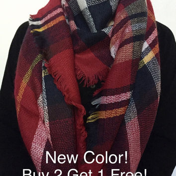 Blanket Scarf, Scarf Blanket, Gift for her, gift ideas, Blanket scarves, Blanket Scarf Plaid