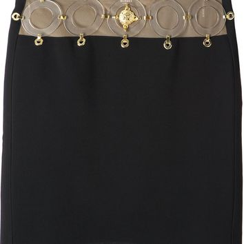 Anthony Vaccarello X Versus Versace plexiglass and gold-tone hardware skirt