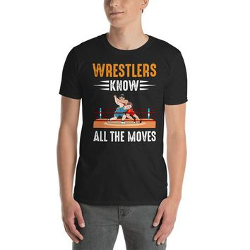 Unisex Short Sleeve Wrestling T-Shirt ~ Graphic Tee ~ Printed Shirt ~ Wrestlers ~ Wrestling Moves ~ Gifts for Wrestlers ~ Wrestling Gear