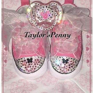 DCCK8NT baby first star bling converse minnie mouse
