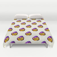 pattern flowers Duvet Cover by Haroulita