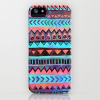 PATTERN {Tribal Stripe- Aqua} iPhone Case by Schatzi Brown | Society6