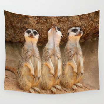 Meerkats tapestry animal tapestry water tapestry Photo Tapestry Nature Tapestry Green Tapestry Wall Hanging Tapestry hippie tapestry