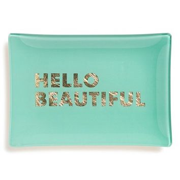 Fringe Studio 'Hello Beautiful' Glass Trinket Tray