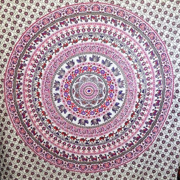 Mandala throws Tapestry Indian Wall Hanging Bohemian Queen Bedsheet Sofa Bedspread Hippie Wall Art Beach Coverlet College Dorm Decor