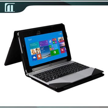 Free Shipping PU Leather Keyboard Case Cover Pouch For Acer Aspire Switch 10 10.1 inches Tablet +Screen protection film