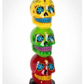 Sugar Skull Tower Incense Burner