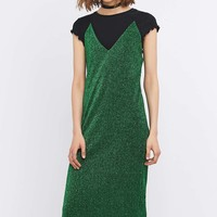 Sparkle & Fade Lurex Midi Slip Dress - Urban Outfitters