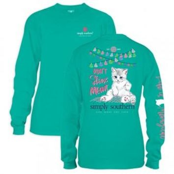 *Closeout* Simply Southern Long Sleeve Tee - Meowt